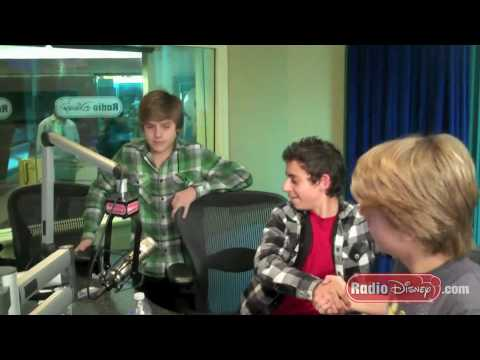 Cole and Dylan Sprouse surprise Moises Arias in the Radio Disney Studio!
