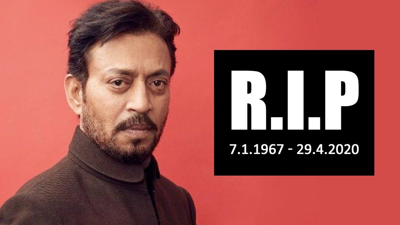 RIP: Irrfan Khan passes away at 54 - YouTube