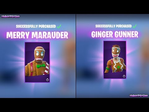 Spending 3,000 V-Bucks On GINGERBREAD SKINS!