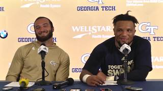 Georgia Tech student-athletes postgame press conference (Clemson - 9-22-18)