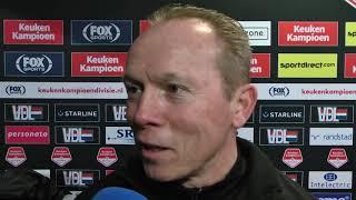 Reactie van Wil Boessen na het duel met FC Eindhoven