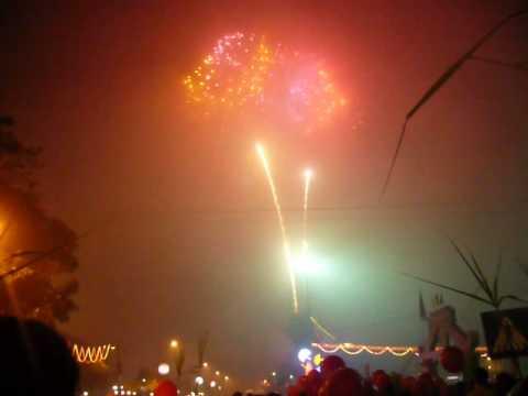 bắn pháo hoa giao thừa tết canh dần 2010 tại Thành Phố Thái Bình