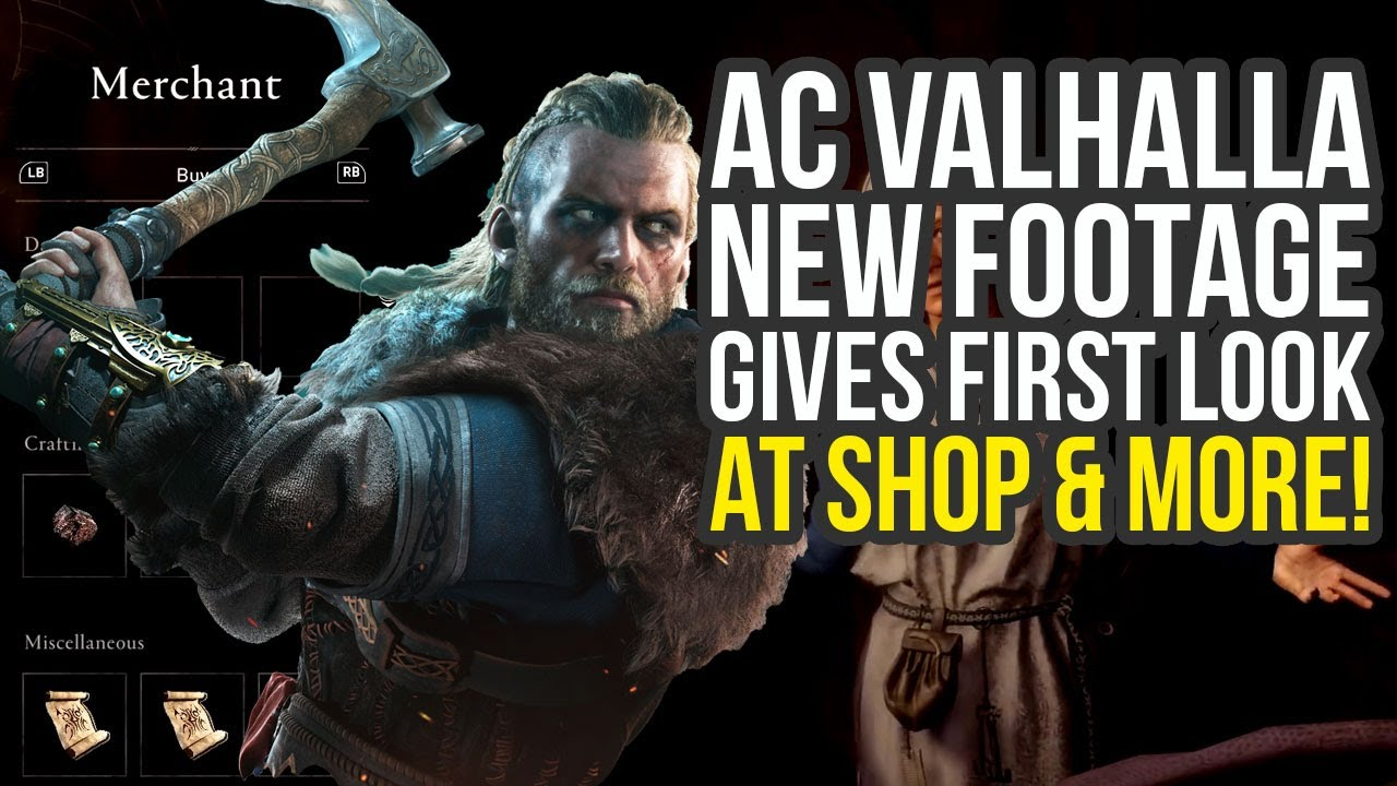 Assassin's Creed Valhalla Gameplay Of Merchant, Hidden Blade Combat & More! (AC Valhalla Gameplay) thumbnail