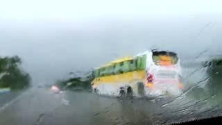 heavy monsoon and vrl volvo b11r