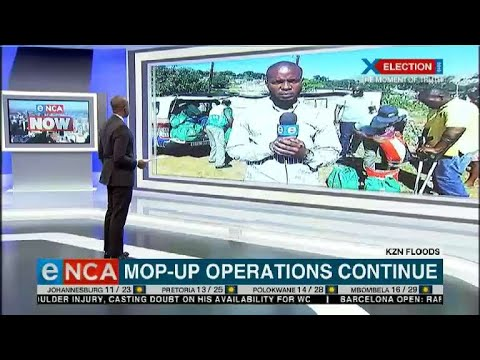 KZN floods: Mop-up operations continue