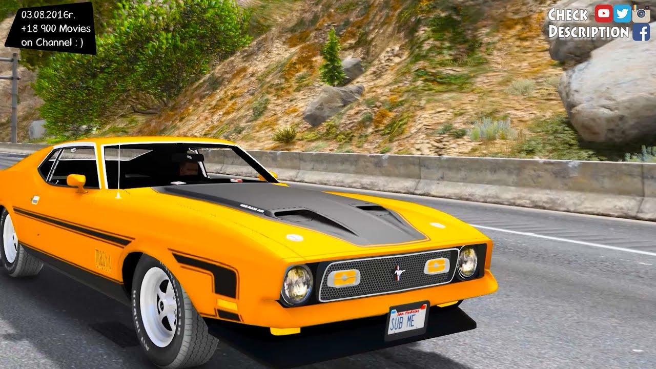 1971 ford mustang mach 1 v2 0 gta v mod 2 7k 1440p