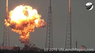 Space X Explosion Sept 2016 - Slow Motion