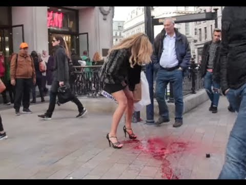 Girl Has Period Explosion In Public video
