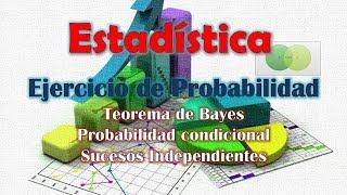 Teorema de Bayes | Ejercicio práctico | Estadística UNED