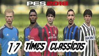 PATCH TOP !!! COM 17 TIMES CLASSICOS  JA COM A DLC 3.0  PES 18 (XBOX 360)