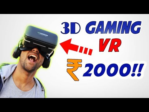 3D Gaming VR Glasses with headphones || Unboxing