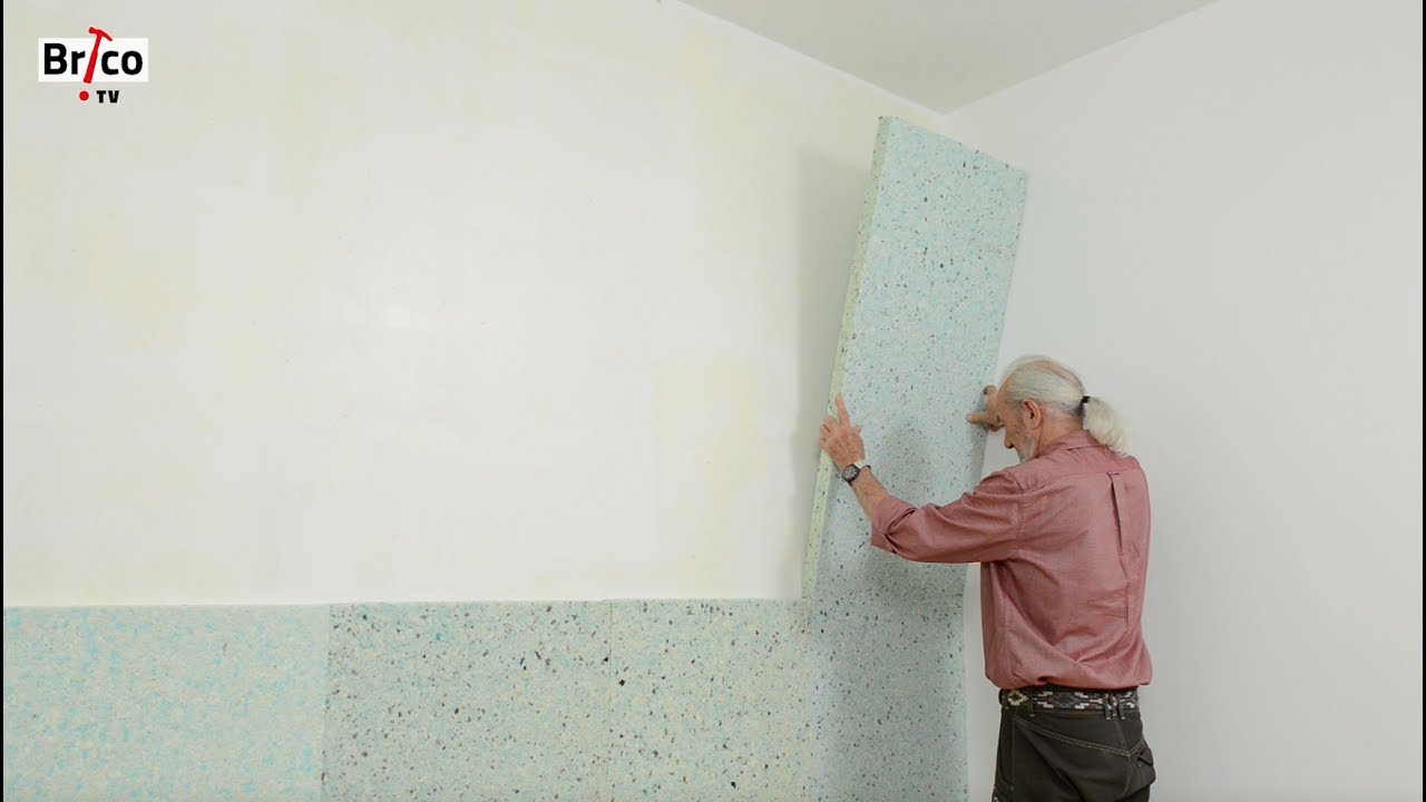 Acoustique poser une isolation phonique sur un mur tuto for Decoration murale a coller