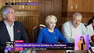 Viorica Dancila a confundat Suceava cu Hunedoara