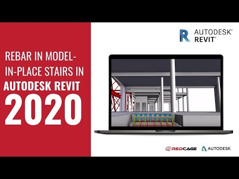 Rebar In Model-In-Place Stairs In Autodesk Revit 2020