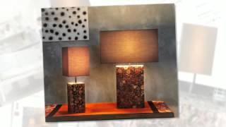 Driftwood Mosaic Tek Petite Table Lamp Home Decor - Desk Table Floor Lamp