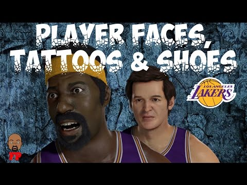 NBA 2K17 - 1971-72 Los Angeles Lakers - Player Faces, Tattoos and Shoes