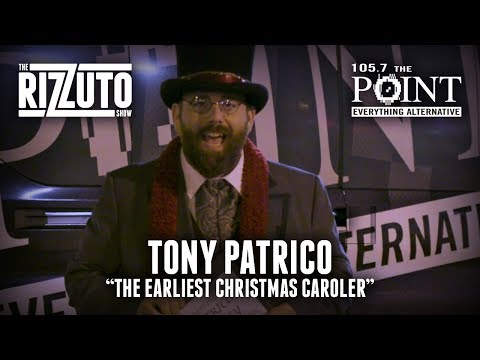 Tony Patrico is 'The Earliest Christmas Caroler'