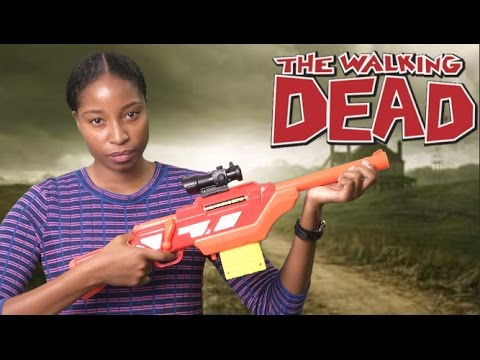 The Walking Dead Andrea S Rifle From Buzz Bee Toys Youtube