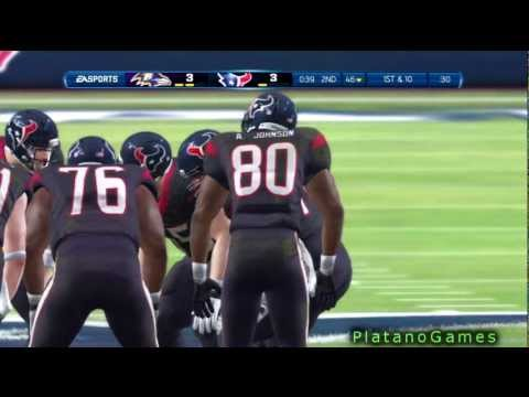 NFL 2012 Week 7 - Baltimore Ravens (5-1) vs Houston Texans (5-1) - 1st Half - Madden