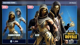 NEW SANDSTORM & SCIMITAR SKINS + EMBLEM WEAPON WRAP + CHRONO CONTRAIL NEW FORTNITE ITEM SHOP UPDATE