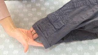 Как сделать шорты из джинс(Композиция