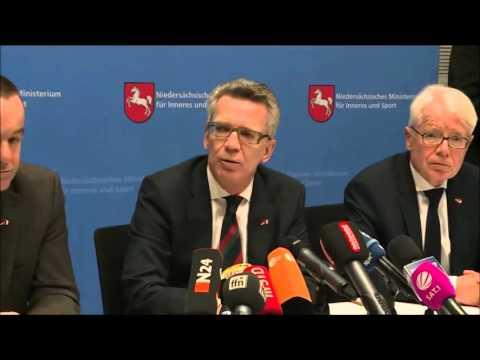 Bundesinnenminister Thomas de Maizière, Ein Teil dieser Antworten würde die Bevölkerung verunsichern