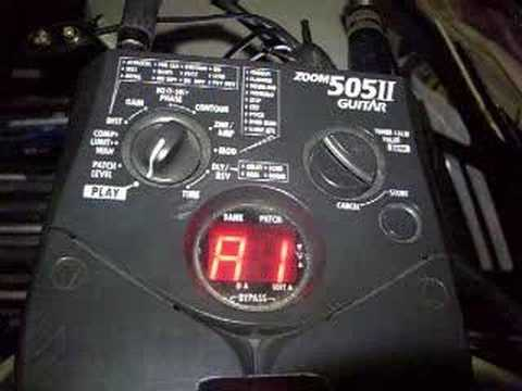 creating a patch for the old zoom 505II guitar  pedal
