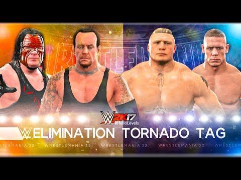 WWE 2K17 Undertaker And Kane Vs John Cena And Brock Lesnar | Elimination Tornado Tag Team Match