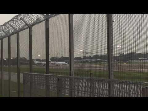 ATR 72-500 Cargo Landing Seletar Airport