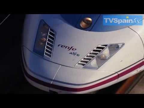 AVE FAST TRAIN Tren de Alta Velocidad Malaga Madrid, TVSpain