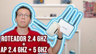 Roteador 2.4 GHz e ponto de acesso 2.4 GHz + 5 GHz funcionam juntos?
