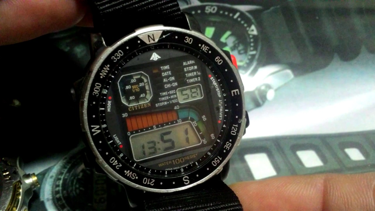 aa008513549 Citizen Promaster Windsurfing D060 Case PVD Black - YouTube