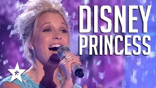 Real Life Disney Princesses Sing Frozen Song Let It Go | Got Talent Global YouTube Videos
