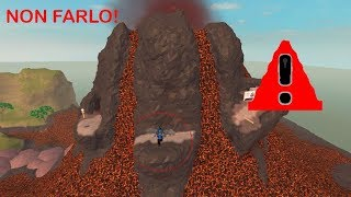 Don't jump off the volcano on roblox!!!