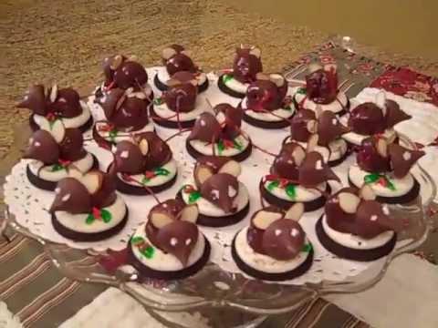 Oreo Cookies Christmas Mice