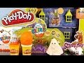 Play Doh Scooby Doo Mystery Mansion Full Playset Unboxing Kinder Surprise Egg - Disney Cars Toy Club video