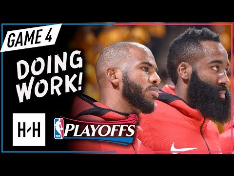 James Harden & Chris Paul CRAZY Game 4 Highlights vs Jazz 2018 NBA Playoffs - 51 Pts Combined