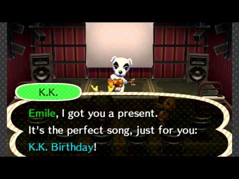 Animal Crossing: New Leaf - Gracie & K.K. Birthday