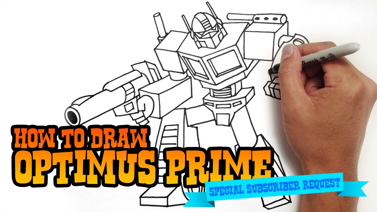 How To Draw Optimus Prime Transformers Youtube