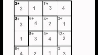 How to solve a Calcudoku (aka Kenken, Mathdoku, etc.) puzzle