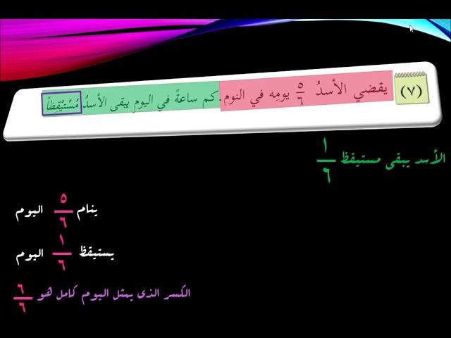 المثال الثالث .. كيف نفكر عند حل المسائل الكلامية - الصف الخامس