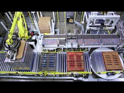 Robotic Tissue Carton Palletizing System