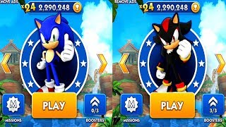 Sonic Dash SONIC VS SHADOW Android iOS Gameplay