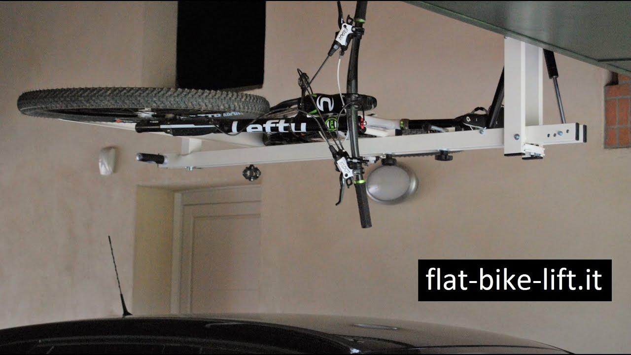 Flat Bike Lift Il Portabici Idro Pneumatico Da Soffitto