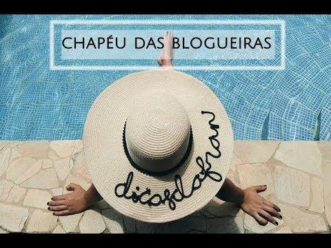 DIY  CHAPÉU DE PRAIA PERSONALIZADO DAS BLOGUEIRAS - YouTube 457885684cc