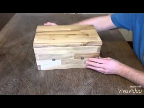 wooden secret box boite en bois avec ouverture secr te youtube. Black Bedroom Furniture Sets. Home Design Ideas