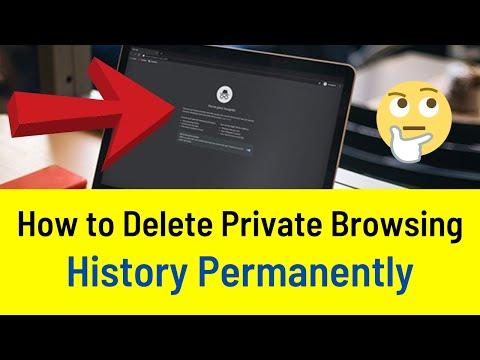 How do i delete incognito