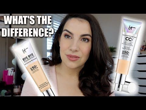 NEW IT COSMETICS Bye Bye Foundation Vs. CC Cream