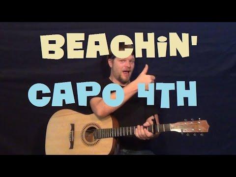 Beachin' (Jake Owen) Easy Guitar Lesson How to Play Tutorial - Capo 4th