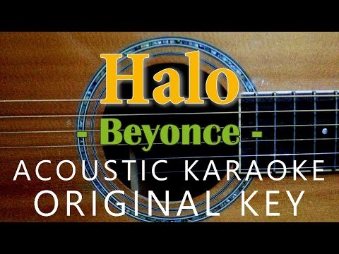 Halo - Beyoncé [Acoustic karaoke | Original Key]